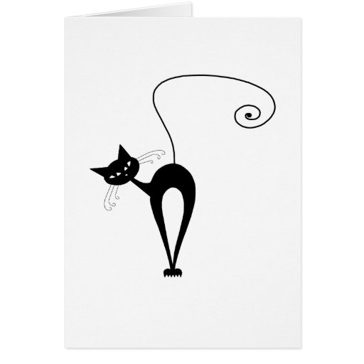 Black Whimsy Kitty 3 Cards