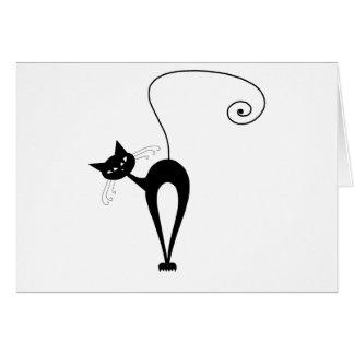 Black Whimsy Kitty 3 Card