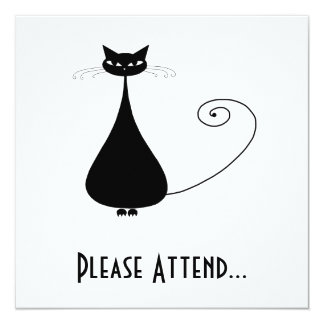 Black Whimsy Kitty 4 Card