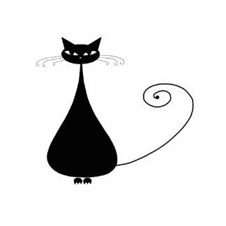 Black Whimsy Kitty 4 Cutout