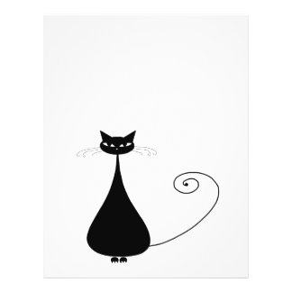 Black Whimsy Kitty 4 Personalized Flyer
