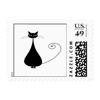 Black Whimsy Kitty 4 Postage