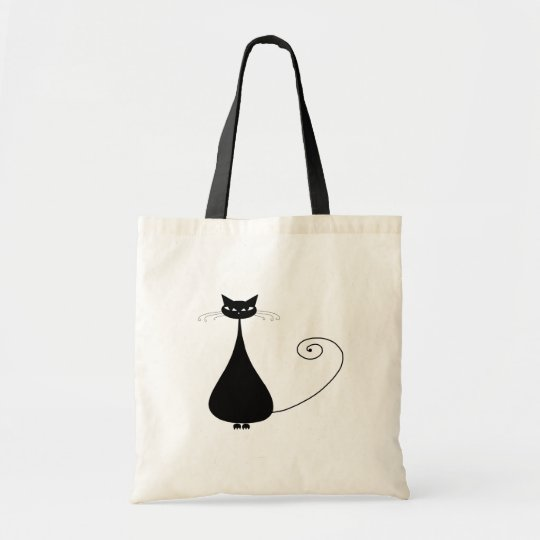 Black Whimsy Kitty 4 Tote Bag