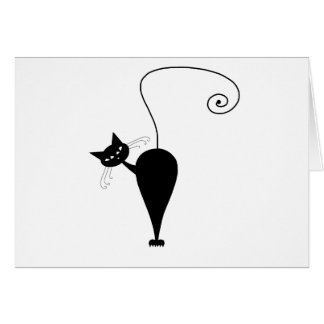 Black Whimsy Kitty 5 Card