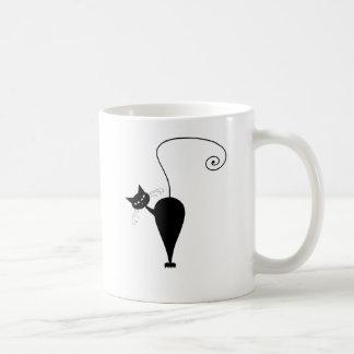 Black Whimsy Kitty 5 Coffee Mug