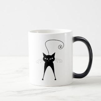Black Whimsy Kitty 6 Coffee Mug