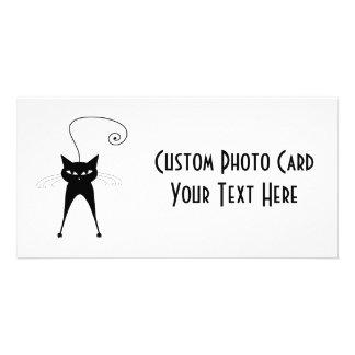 Black Whimsy Kitty 6 Photo Card