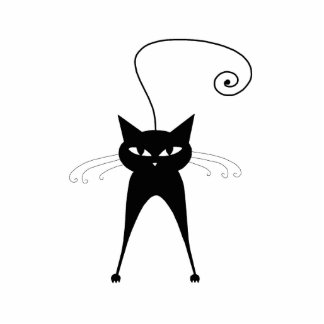 Black Whimsy Kitty 6 Statuette