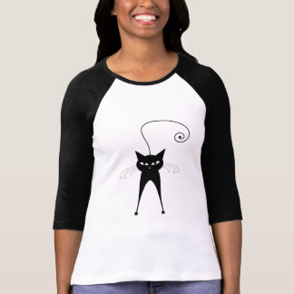 Black Whimsy Kitty 6 T-Shirt