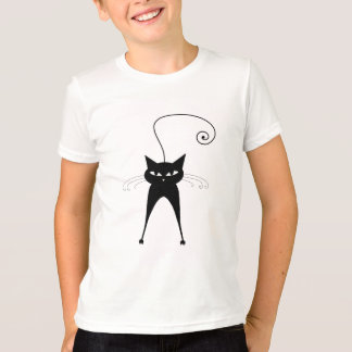 Black Whimsy Kitty 6 T-Shirt