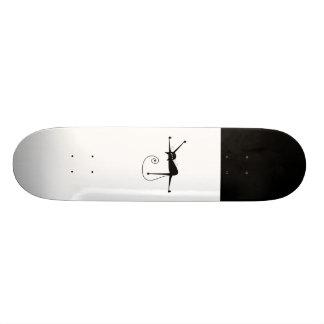 Black Whimsy Kitty 7 Skateboard Deck
