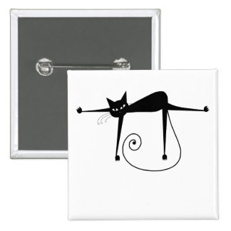 Black Whimsy Kitty 8 Button