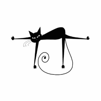 Black Whimsy Kitty 8 Cut Outs