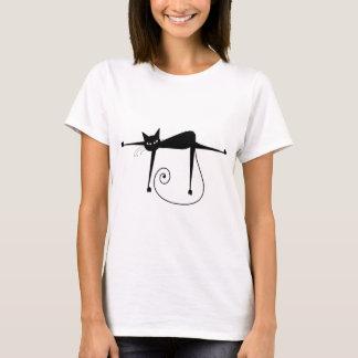 Black Whimsy Kitty 8 T-Shirt
