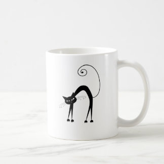 Black Whimsy Kitty 9 Classic White Coffee Mug