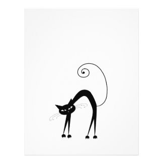 Black Whimsy Kitty 9 Personalized Flyer