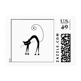 Black Whimsy Kitty 9 Postage