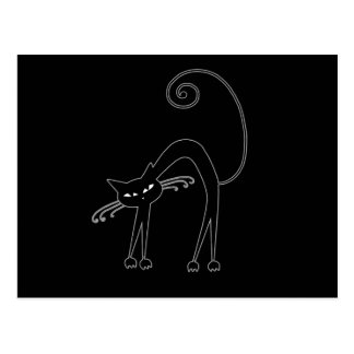 Black Whimsy Kitty 9 Postcard