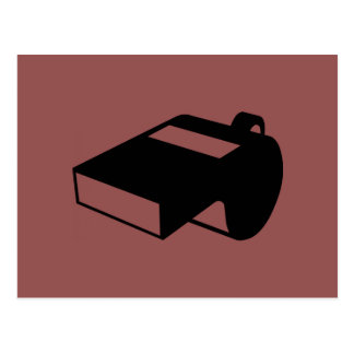 Black Whistle Postcard