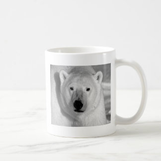Black & Whit Polar Bear Classic White Coffee Mug