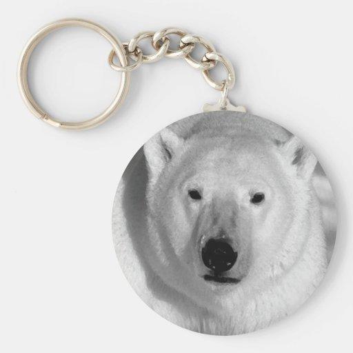 Black & Whit Polar Bear Key Chains