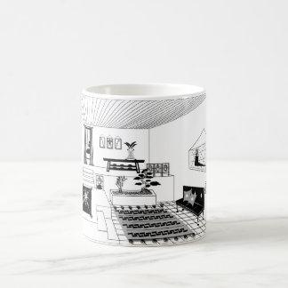 Black/White 11 oz Morphing Mug Interior Drawing