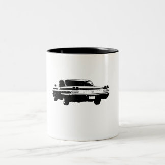 Black & white 1960 Pontiac mug