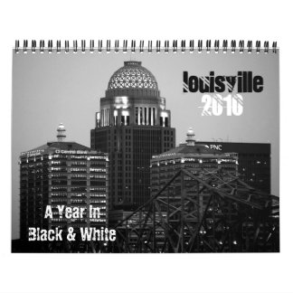 Black & White 2010 Louisville Calendar