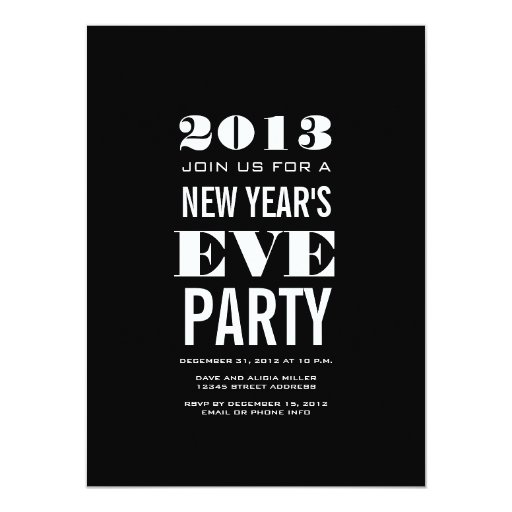 New Years Eve Invitation for perfect invitation layout