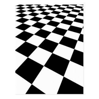black-white-313324 black white checkered backgroun postcard