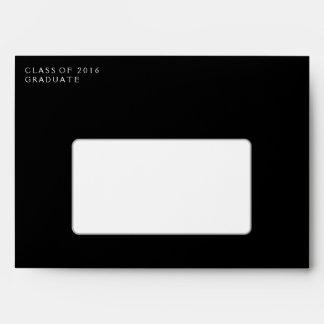 Black & White 5x7 Graduation Invite Envelope