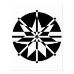 Black & White 7 Point Star T-Shirt Post Card