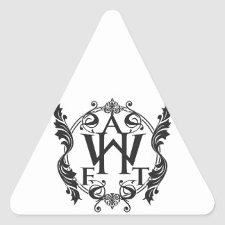 Black & White A Hero For The World Collection Triangle Stickers