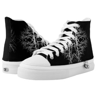 Black/White Abstract #5 High-Top Sneakers