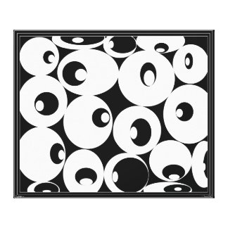 BLACK & WHITE ABSTRACT ART by Brenda Phillips Canvas Print