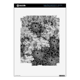 Black&White Abstract Bubble Pattern Skins For iPad 3