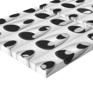 Black White Abstract Canvas Print