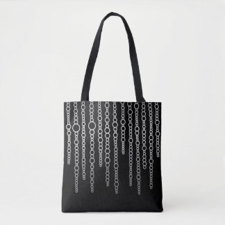 Black & White Abstract Chains Tote Bag