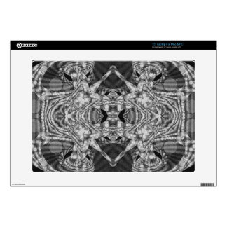 Black&White Abstract Decal For Laptop