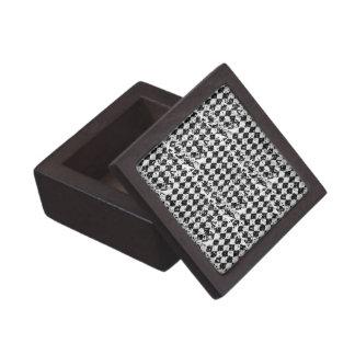 Black & White Abstract Diamonds Gift Box