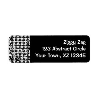 Black & White Abstract Diamonds Return Address Labels