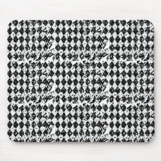 Black & White Abstract Diamonds Mouse Pad