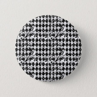Black & White Abstract Diamonds Pinback Button