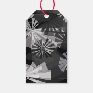 Black&White Abstract Pack Of Gift Tags