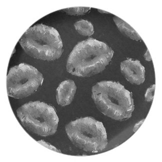 Black&White Abstract Lips Melamine Plate