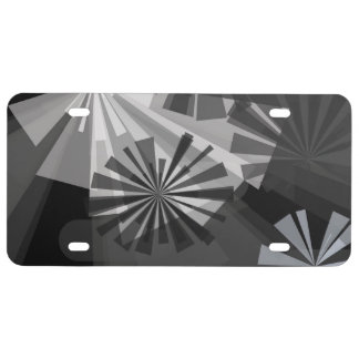 Black&White Abstract License Plate