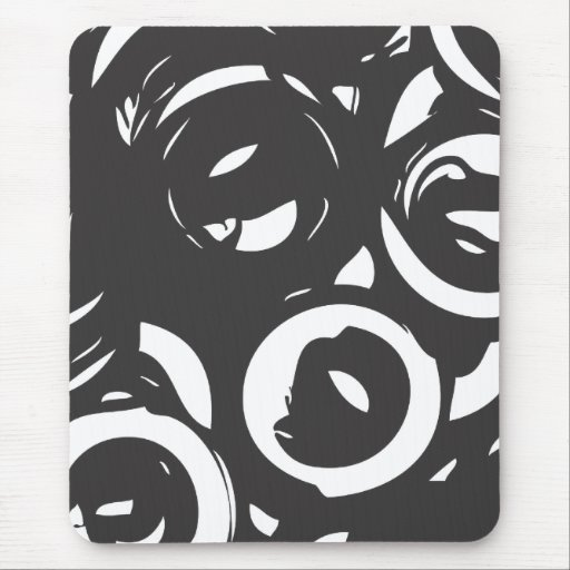 Black White Abstract  Mousepad