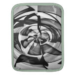 Black & White Abstract Overload Sleeve For iPads