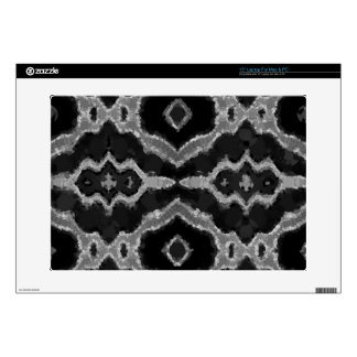 Black&White Abstract Overprint Laptop Skins