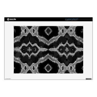 Black&White Abstract Overprint Laptop Skins